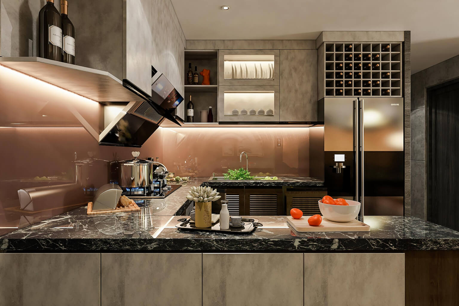central residence phong bep
