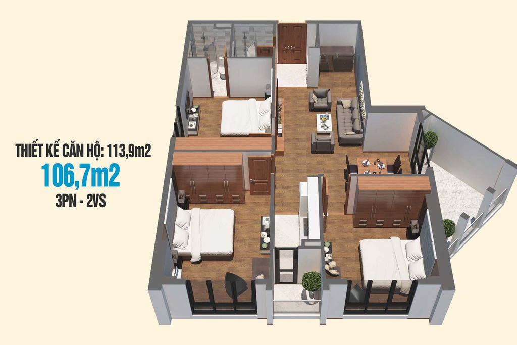 thiet ke can ho tecco skyville tower 106m2