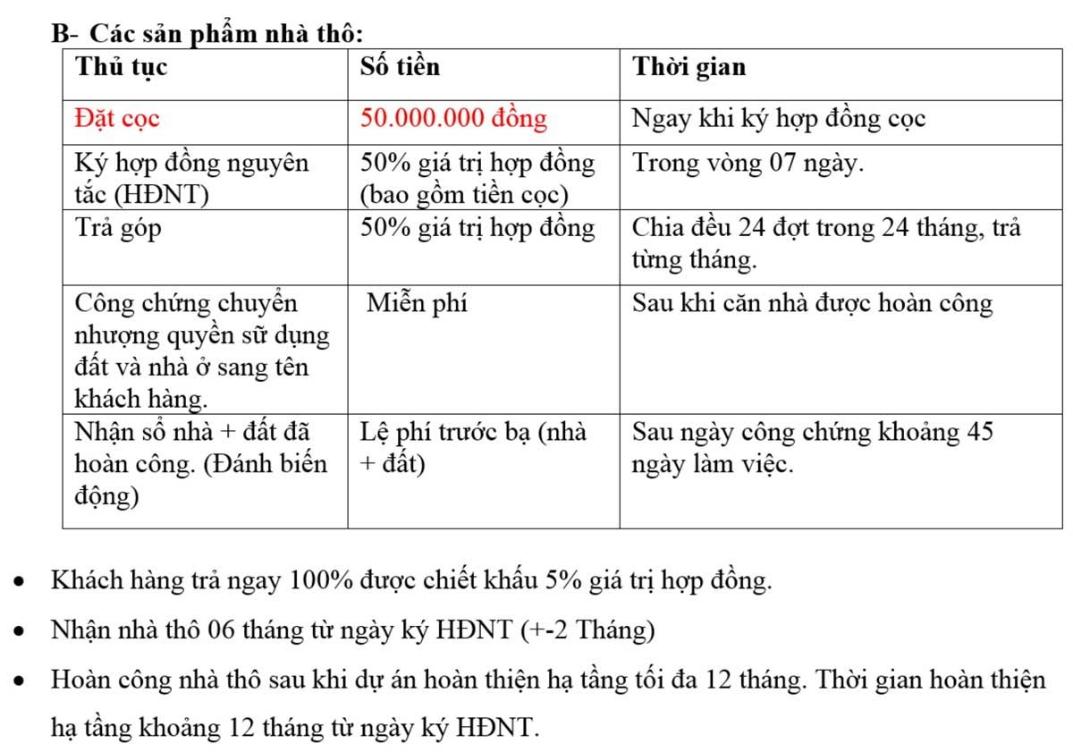 tien do thanh toan san pham nha tho du an cat tuong western pearl